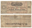 Madison County $1.00 (one dollar) county scrip
