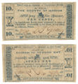 Marion County 10 cents (ten cents) county scrip