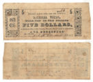 Angelina County $5.00 (five dollars) county scrip