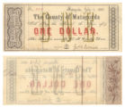 Matagorda County $1.00 (one dollar) county scrip