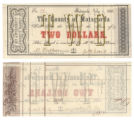 Matagorda County $2.00 (two dollars) county scrip