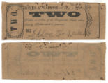 Jones & Walker $2.00 (two dollars) private scrip
