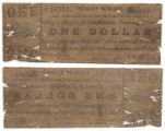 McLennan County $1.00 (one dollar) treasury warrant