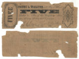 Jones & Walker $5.00 (five dollars) private scrip
