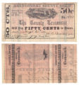 Montgomery County 50 cents (fifty cents) county scrip