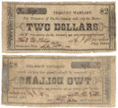 Parker County $2.00 (two dollars) treasury warrant