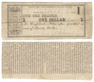 Robertson County $1.00 (one dollar) county scrip
