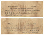Sabine County $3.00 (three dollars) county scrip