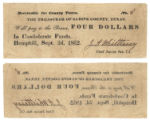 Sabine County $4.00 (four dollars) county scrip