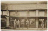 [Men standing in front of bank, Alto, Texas]