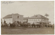 [Wagons loaded and in line, Katy, Texas]