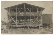 [People in barn, during peach harvest, Linden, Texas]