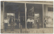 [Men standing before store, Hubbard, Texas]