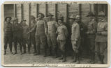 Officers of 1st Battalion, 2nd Iowa Inf. Brownsville, Texas 1916, 1st Lt. C.J. Jennings [marked]