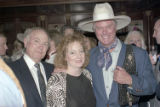 [Larry Hagman and guests at the Rosewood Crescent Club]