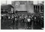 [Crowd in front of Cotton Bowl]