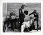 [Children with miniature horses to show at the State Fair of Texas]