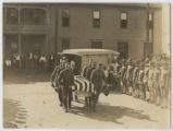 [Pallbearers Carrying Casket of U.S. Military Aviator from the Second Provisional Wing of the Air...