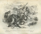 [General Sam Houston, falling from horse]