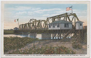 International Bridge Across the Rio Grande, Between Brownsville, Texas and Matamoros, Mexico.