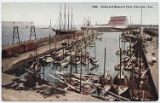 Docks and Mosquito Fleet, Galveston, Tex.