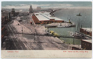 Harbor & Bay, looking West, Galveston, Tex.
