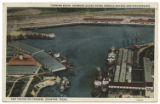 Turning Basin, Showing Ocean Going Vessels Docked and Discharging and Taking on Cargoes, Houston,...