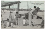 Unloading a Boatload of Oysters, Port Lavaca, Texas.