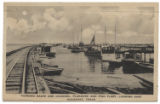 Turning Basin and Channel, Pleasure and Fish Fleet, Looking East, Rockport, Texas