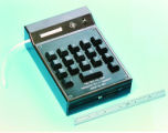 World's first handheld calculator, ''Cal-Tech'', from TI]
