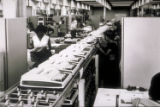 [Women working in Silent 700 data terminal production area]