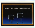 First silicon transistor