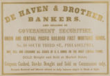 De Haven & Brother, Bankers