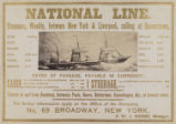 National Line. Steamers, Weekly, between New York & Liverpool, calling at Queenstown