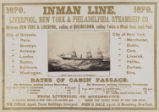 Inman Line. Liverpool, New York & Philadelphia Steamship Co.