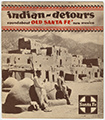 Indian-detours roundabout old Sante Fe, New Mexico