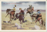 Cowboy race, with wild bronchos-the start.