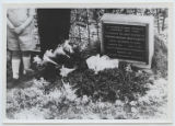 [Bronze Plaque Placed at Edmund Montgomery's Grave]